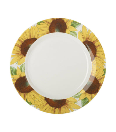 "portmeirion botanic bloom sunflower 11"" plate set of 4"