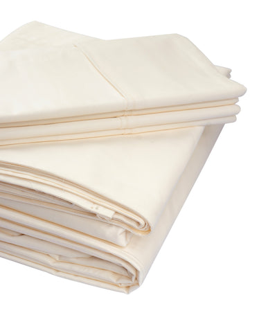 rustans home ivory sheet set king with 300 thread count