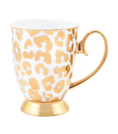 Cristina Re Louis Leopard Gold Mug