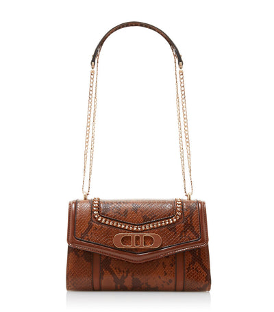 Ebeniez Logo Detail Shoulder Bag Tan