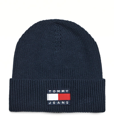 Tommy Jeans Organic Cotton Badge Beanie Twilight Navy