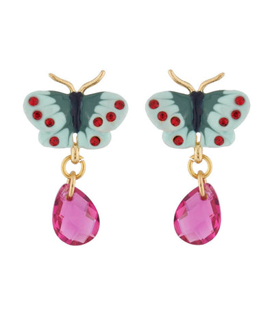 les néréides country butterfly stud earrings