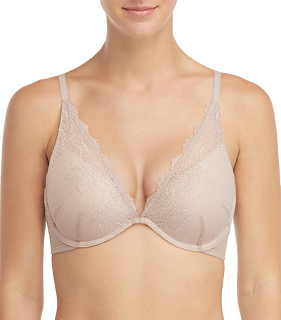 spanx undie-tectable push-up plunge soft nude