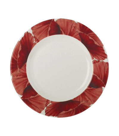 "portmeirion botanic blooms poppy 11"" plate set of 4"