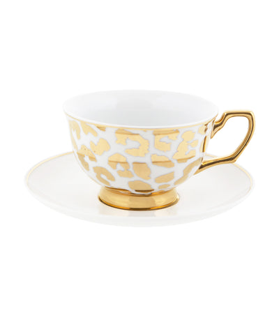 Cristina Re Louis Leopard Gold Teacup and Saucer
