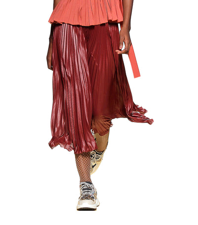 Elowen Pleated Skirt Burgundy