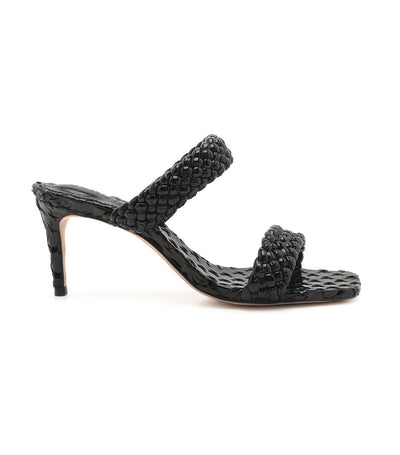 Deluxe Brilho Heeled Sandal Black