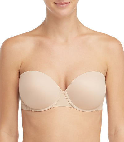 spanx up for anything strapless bra champagne beige