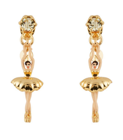 les néréides mini ballerina stud earrings gold