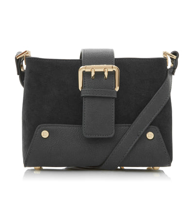 Ducklie Buckle Shoulder Bag Black