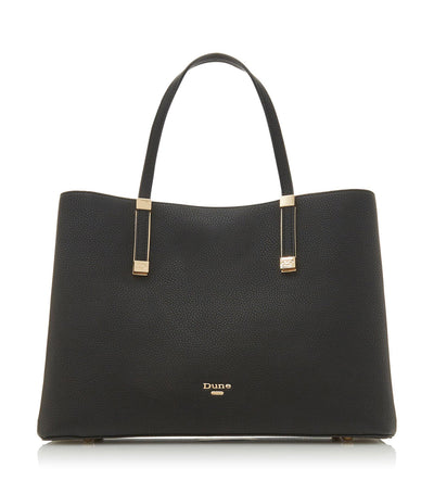 Dorrie Logo Hardware Tote Bag Black