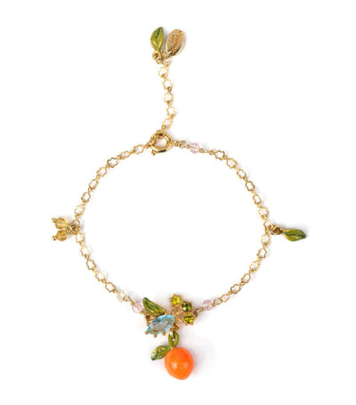 les néréides orange and leaves adjustable bracelet
