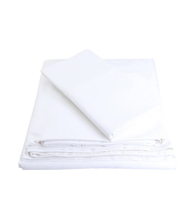rustans home white sheet set full with 300 thread count