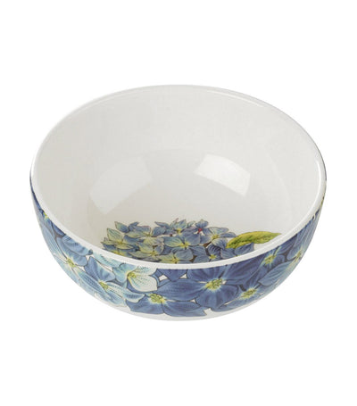 "portmeirion botanic blooms 5.5"" rimless bowl hydrangea set of 4"