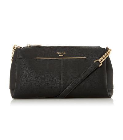 Dornea Logo Detail Crossbody Bag Black