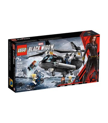 lego marvel avengers black widow's helicopter chase