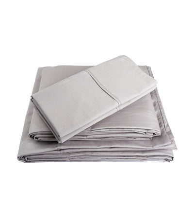 rustan's home ash gray sheet set queen with 300 thread count