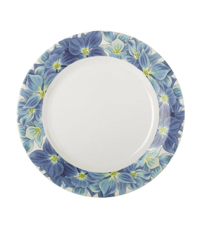 "portmeirion botanic blooms hydrangea 11"" plate set of 4"