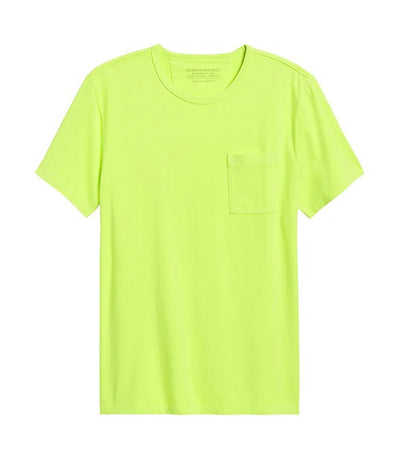 Authentic SUPIMA® Crew-Neck T-Shirt Neon Green