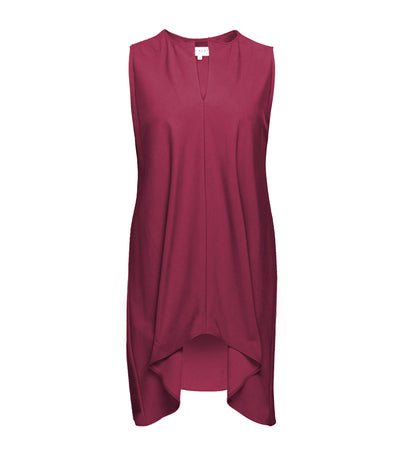 lady rustan naomi sleeveles long back blouse maroon