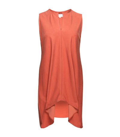lady rustan naomi sleeveless long back blouse rust