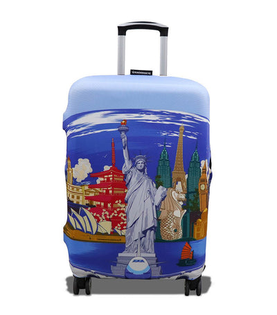Wanderskye Around the World Luggage Cover