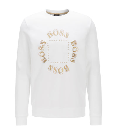 Salbo Circle Double-Faced Sweatshirt White