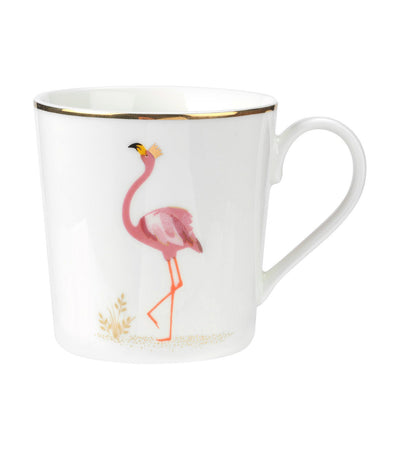 sara miller london portmeirion pIccadilly mug - flamingo