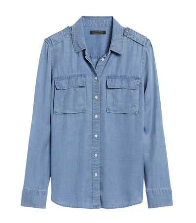 Dillon Classic-Fit TENCEL™ Utility Shirt Chambray Blue
