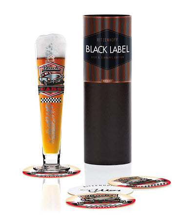 ritzenhoff black label beer glass by thomas marutschke