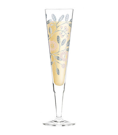 ritzenhoff champagne glass with napkin by burkhard neie