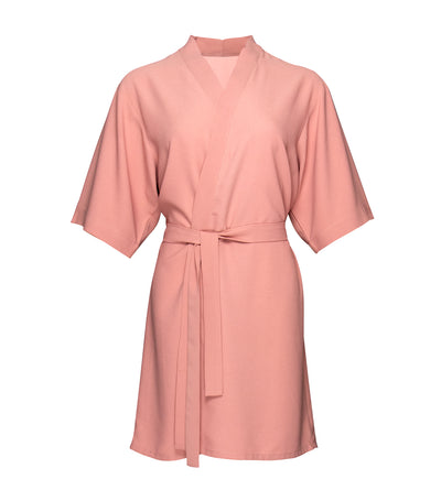 luna loungewear and sleepwear lena short robe pink