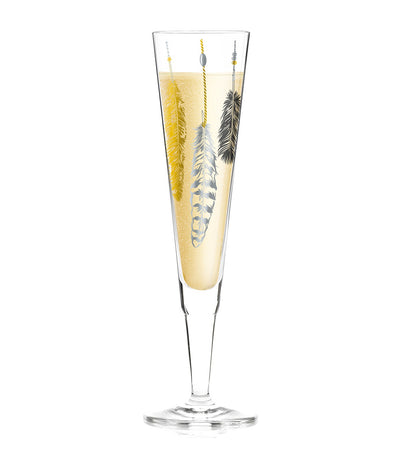 Champagne Glass With Napkin by Kathrin Stockebrand
