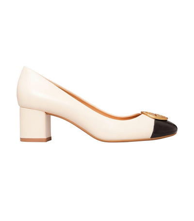 Chelsea Cap-Toe Pump Extended Width New Cream and Perfect Black