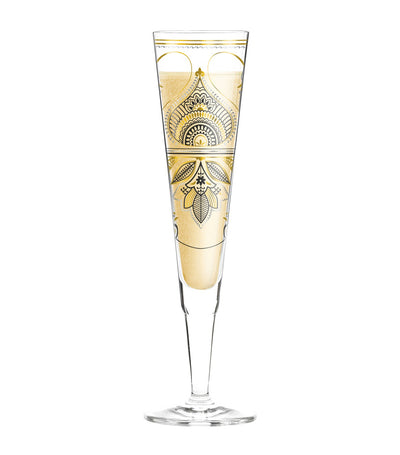ritzenhoff champagne glass with napkin by michal shalev