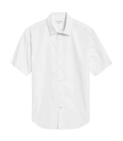 Slim-Fit Luxe Poplin Shirt White
