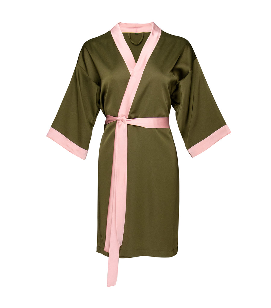 luna loungewear and sleepwear lana short robe green