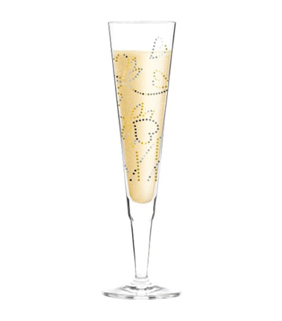 ritzenhoff champagne Glass with napkin by shinobu Ito