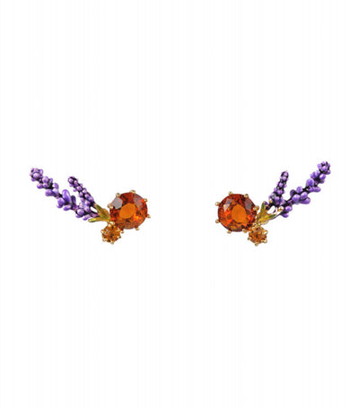 les néréides lavender stud earrings