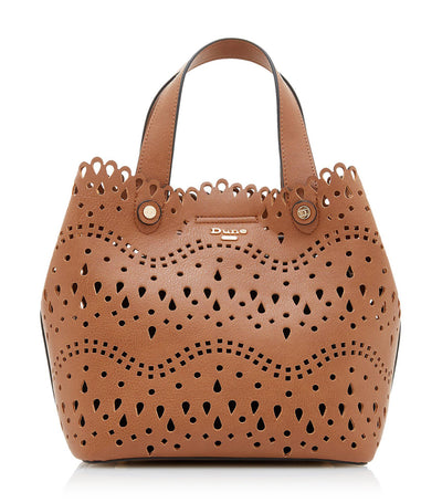 Daser Laser Cut Tote Bag Tan