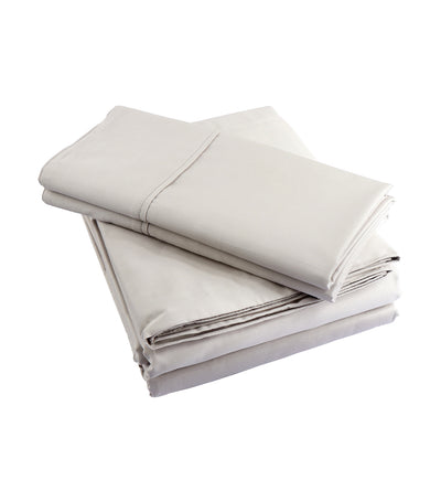 rustans home taupe sheet set king with 300 thread  count