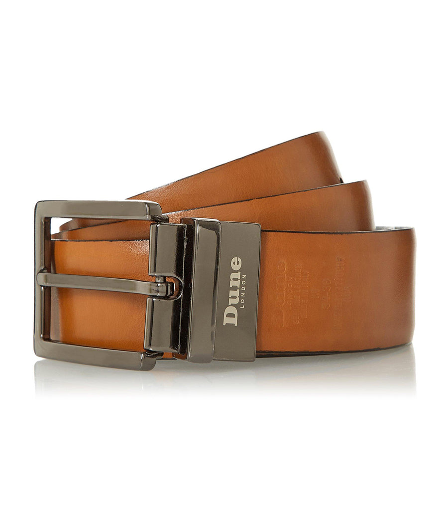 Next Stitch Detail Reversible Belt Tan