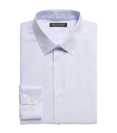 Slim-Fit Non-Iron Dress Shirt Marfa Blue