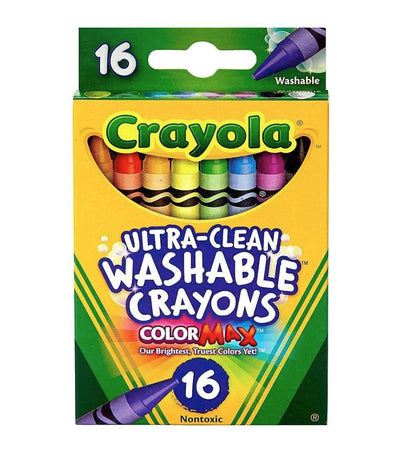crayola ultra-clean washable crayons - 16 count