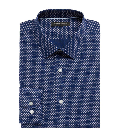 Slim-Fit Non-Iron Dress Shirt Indigo