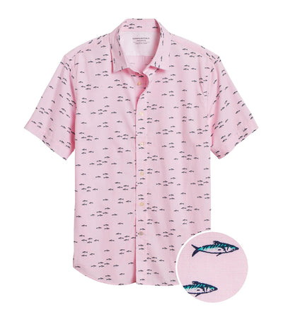 Slim-Fit Luxe Poplin Shirt Pacific Pink