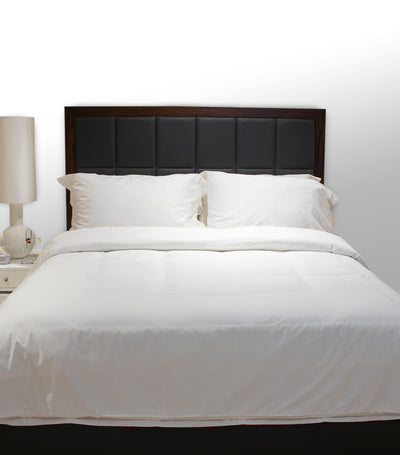 rustans home white duvet set full with 300 thread count
