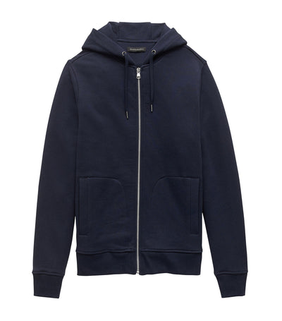 French Terry Hoodie Preppy Navy