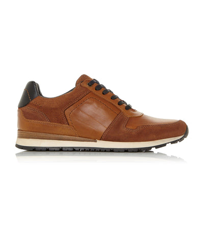 Tenor Lace-Up Trainer Tan