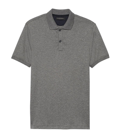 Luxury Touch Polo Dark Gray
